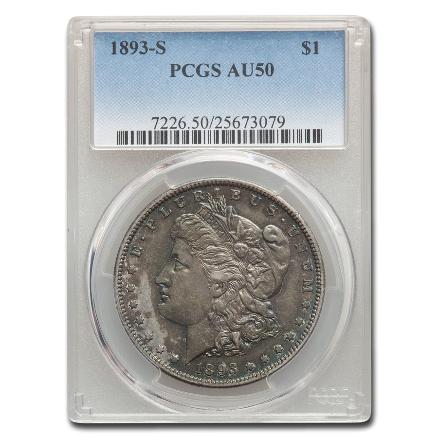 1893-S Morgan Dollar AU-50 PCGS