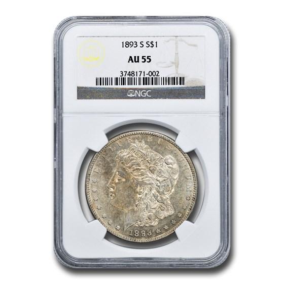 1893-S Morgan Dollar AU-55 NGC