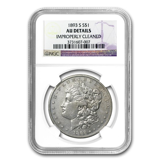 1893-S Morgan Dollar AU Details NGC (Cleaned)