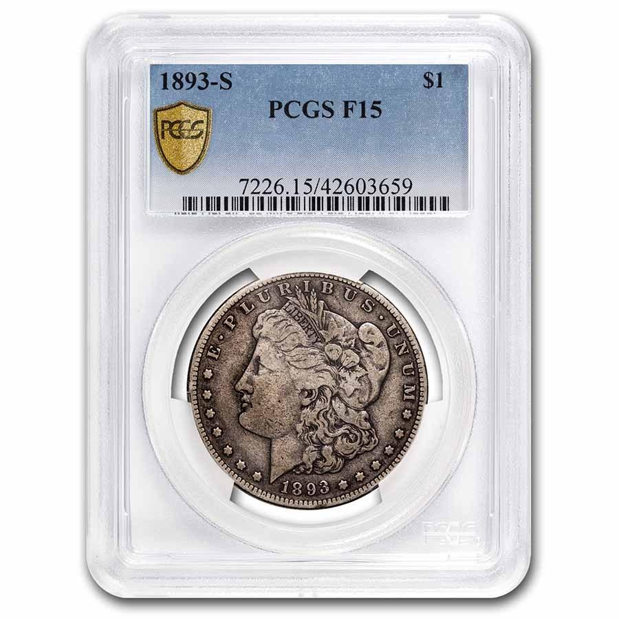 1893-S Morgan Dollar Fine-15 PCGS