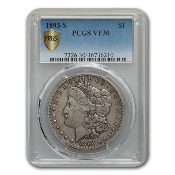 1893-S Morgan Dollar VF-30 PCGS