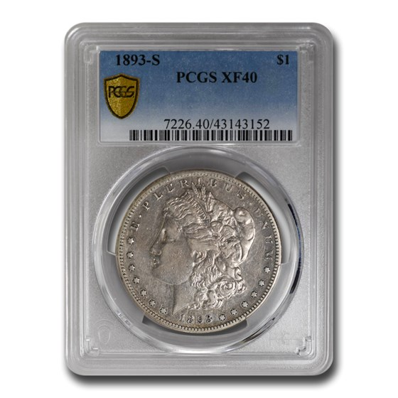 1893-S Morgan Dollar XF-40 PCGS