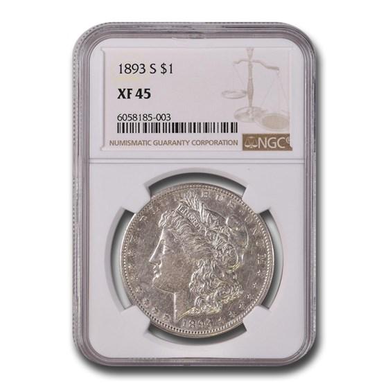 1893-S Morgan Dollar XF-45 NGC