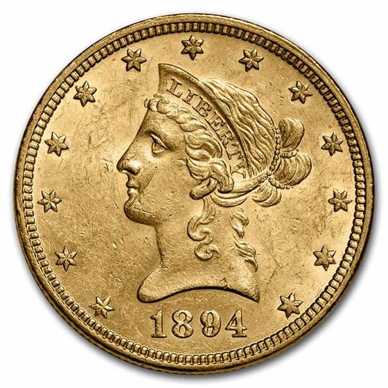 1894 $10 Liberty Gold Eagle AU