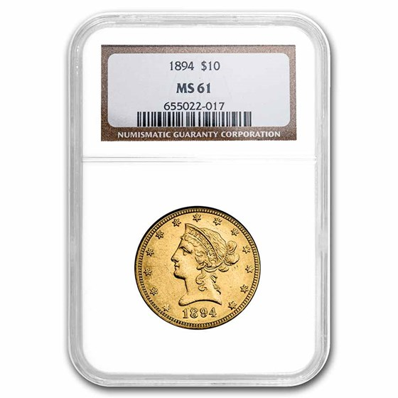 1894 $10 Liberty Gold Eagle MS-61 NGC