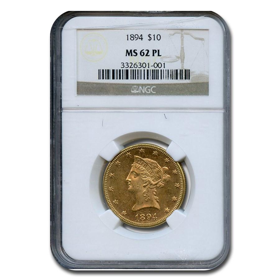 1894 $10 Liberty Gold Eagle MS-62 NGC (PL)