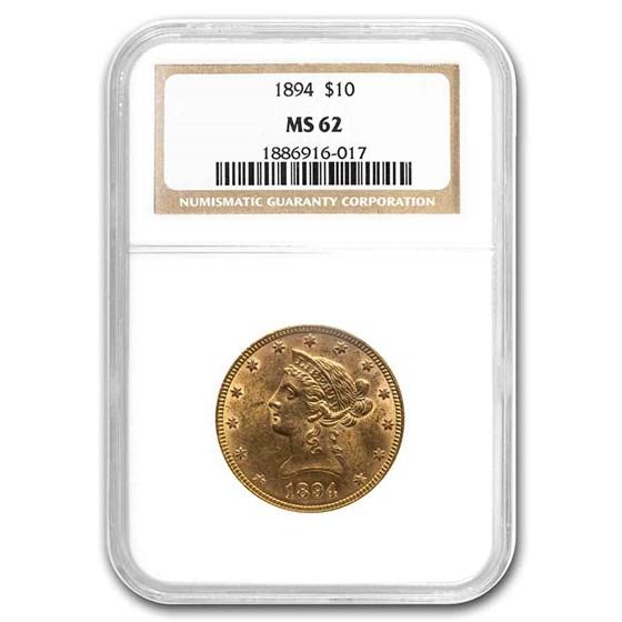 1894 $10 Liberty Gold Eagle MS-62 NGC