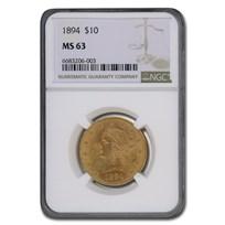 1894 $10 Liberty Gold Eagle MS-63 NGC