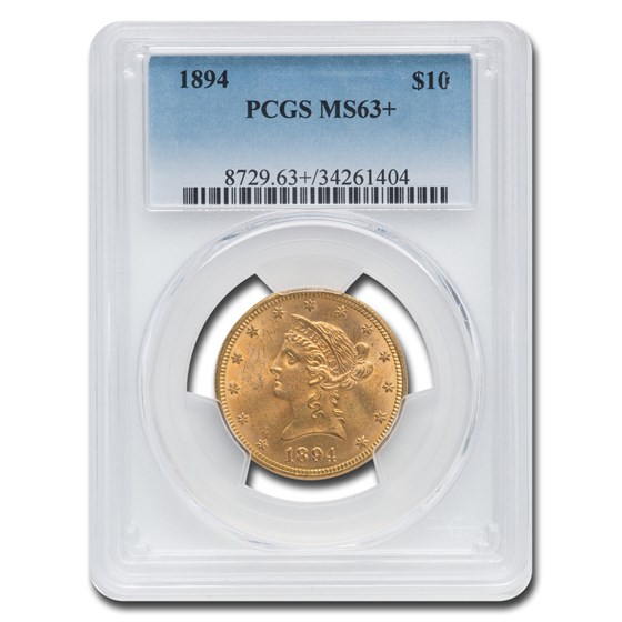 1894 $10 Liberty Gold Eagle MS-63+ PCGS (Plus)