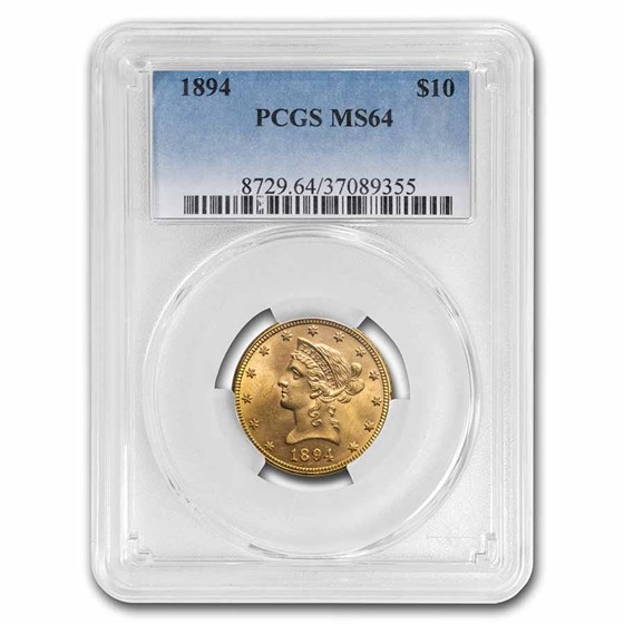 1894 $10 Liberty Gold Eagle MS-64 PCGS