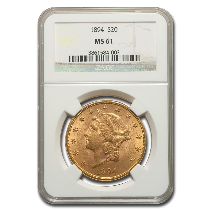 1894 $20 Liberty Gold Double Eagle MS-61 NGC