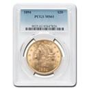 1894 $20 Liberty Gold Double Eagle MS-61 PCGS
