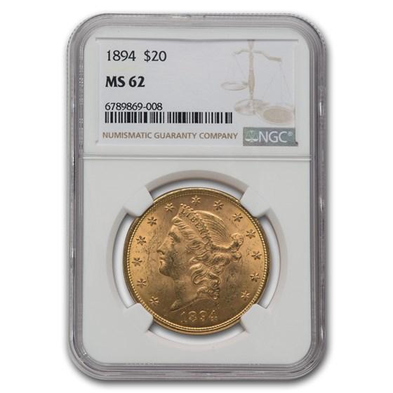1894 $20 Liberty Gold Double Eagle MS-62 NGC