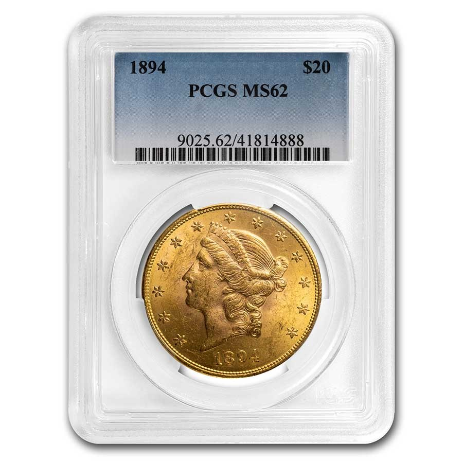 1894 $20 Liberty Gold Double Eagle MS-62 PCGS