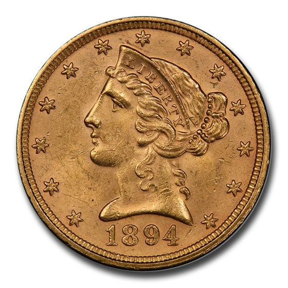1894 $5.00 Liberty Gold Half Eagle MS-63+ PCGS
