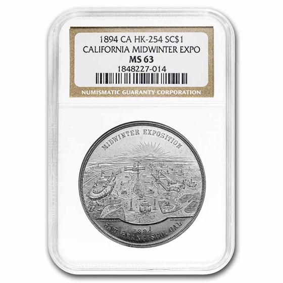 1894 California Midwinter Expo HK-254 MS-63 NGC
