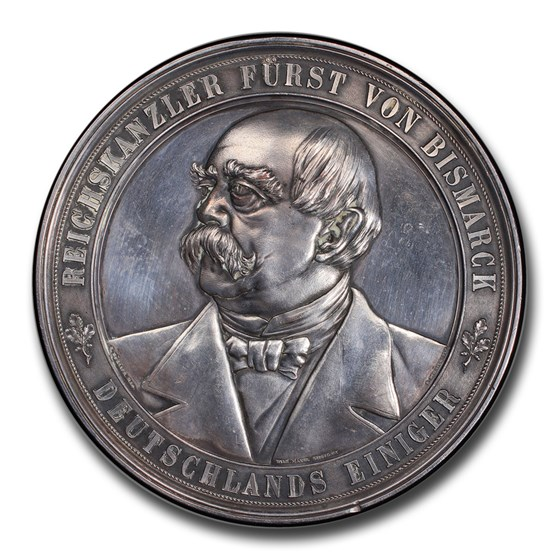 1894 Germany Wilhelm II. Silvered CU Medal SP-62 PCGS