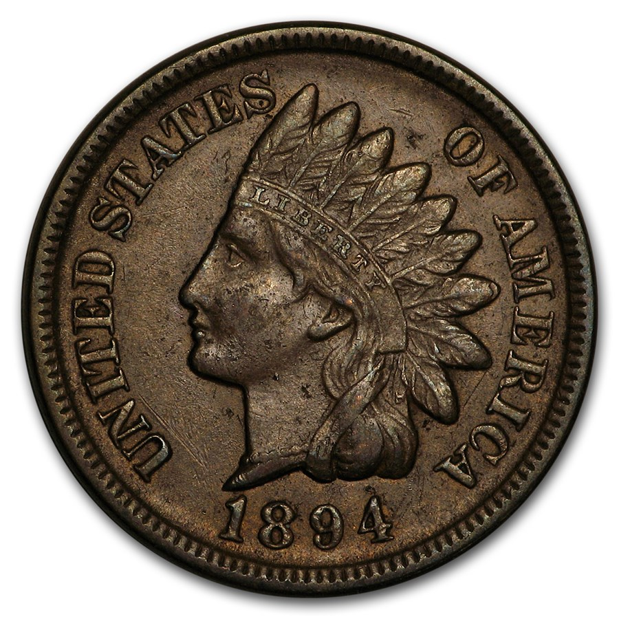 1894 Indian Head Cent AU