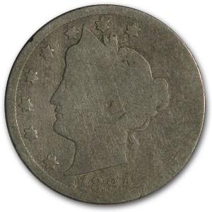1894 Liberty Head V Nickel AG