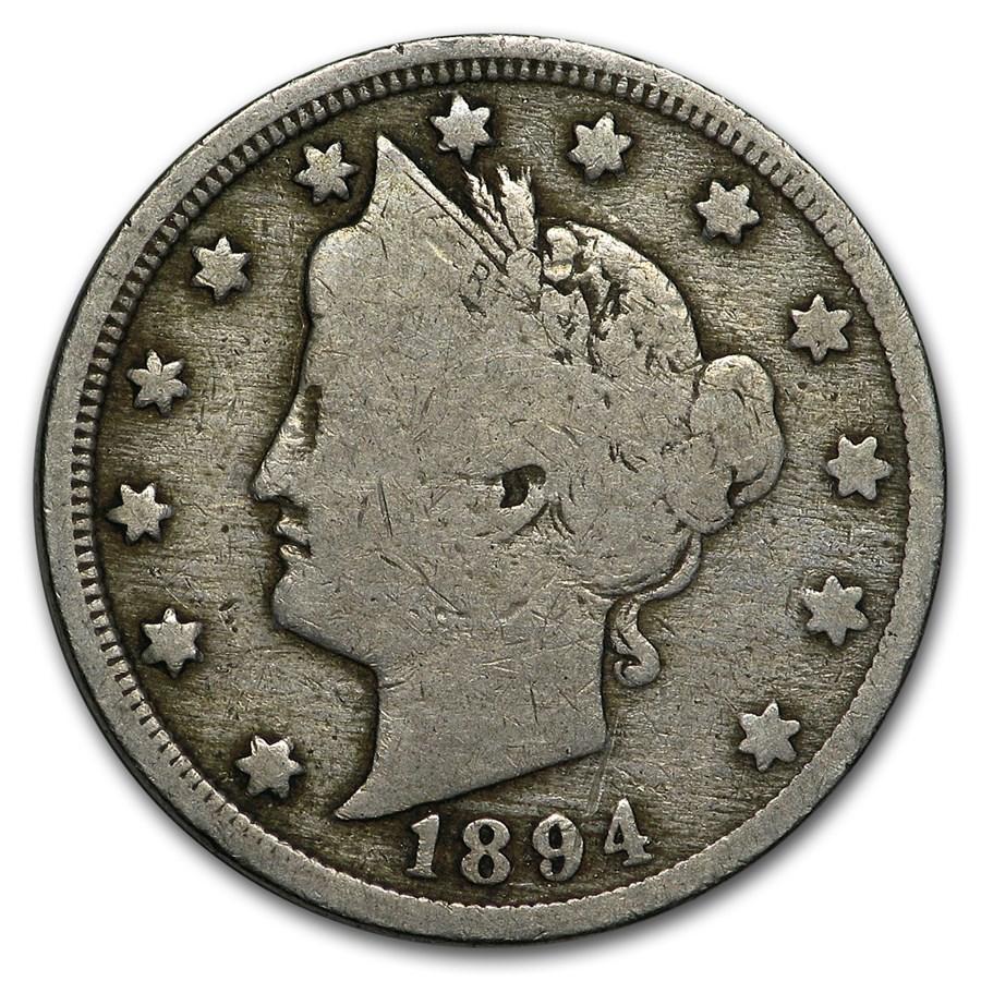 1894 Liberty Head V Nickel VG