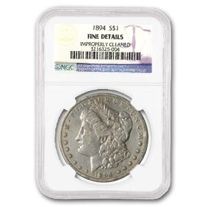 1894 Morgan Dollar Fine Details NGC (Improperly Cleaned)