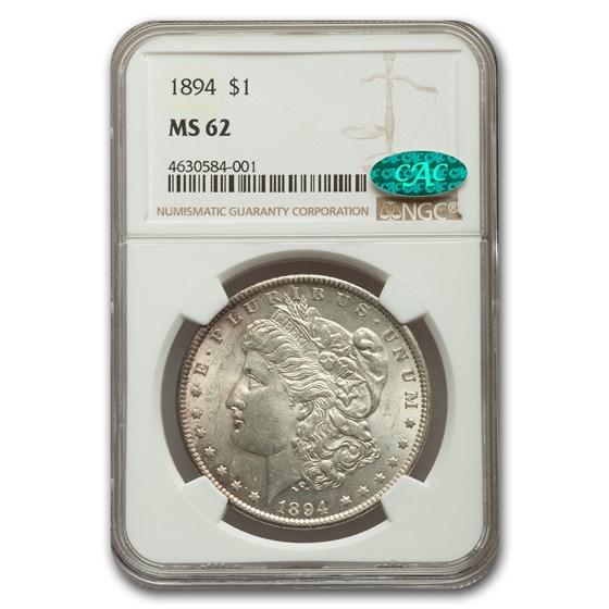 1894 Morgan Dollar MS-62 NGC CAC