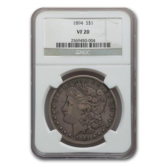 1894 Morgan Dollar VF-20 NGC