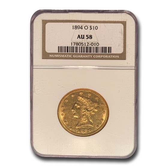 1894-O $10 Liberty Gold Eagle AU-58 NGC