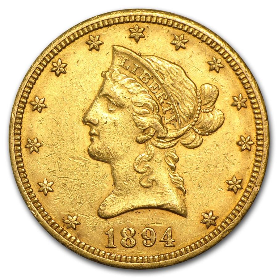 1894-O $10 Liberty Gold Eagle AU