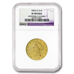 1894-O $10 Liberty Gold Eagle EF Details NGC (Cleaned)