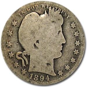 1894-O Barber Quarter AG