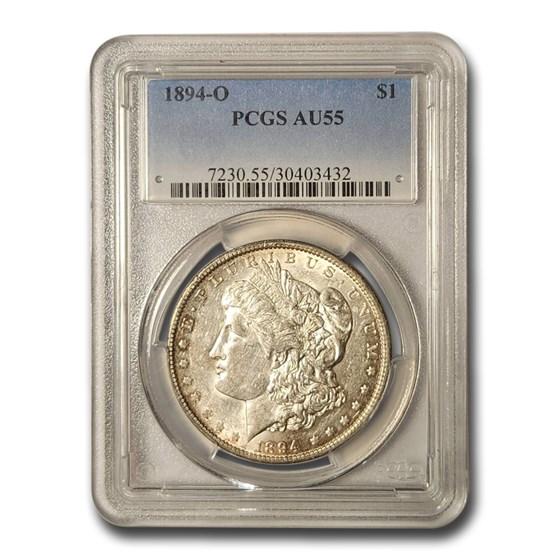 1894-O Morgan Dollar AU-55 PCGS