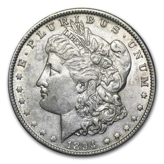 1894-O Morgan Dollar AU Details (Cleaned)