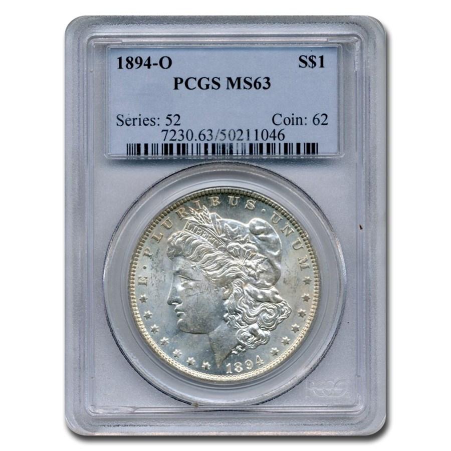 1894-O Morgan Dollar MS-63 PCGS