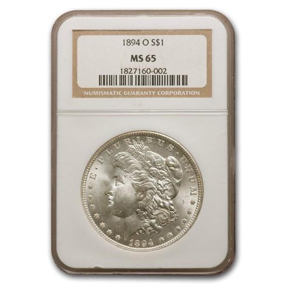 1894-O Morgan Dollar MS-65 NGC