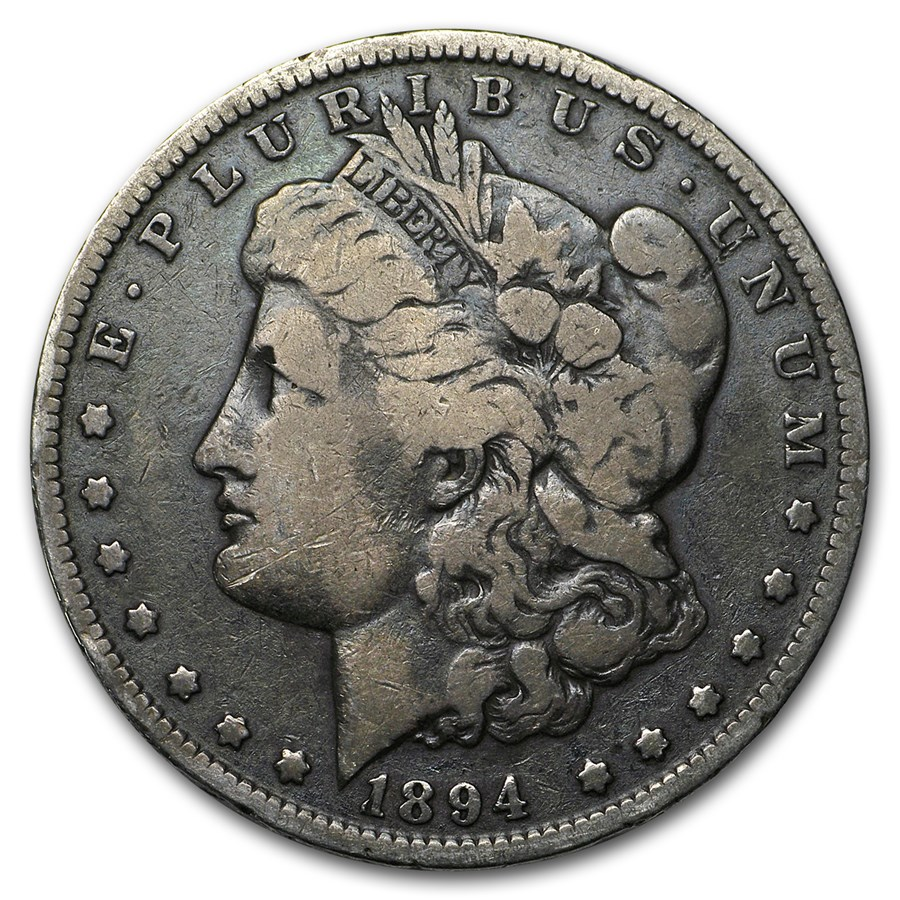 1894-O Morgan Dollar VG Details (Cleaned)