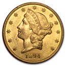 1894-S $20 Liberty Gold Double Eagle AU
