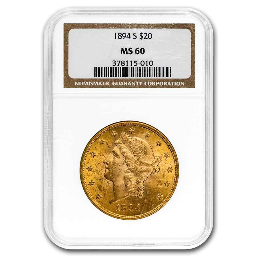 1894-S $20 Liberty Gold Double Eagle MS-60 NGC