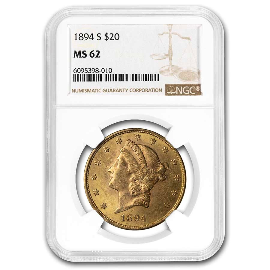 1894-S $20 Liberty Gold Double Eagle MS-62 NGC