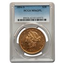1894-S $20 Liberty Gold Double Eagle MS-62 PCGS (PL)