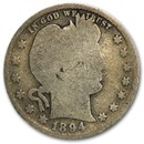 1894-S Barber Quarter Good