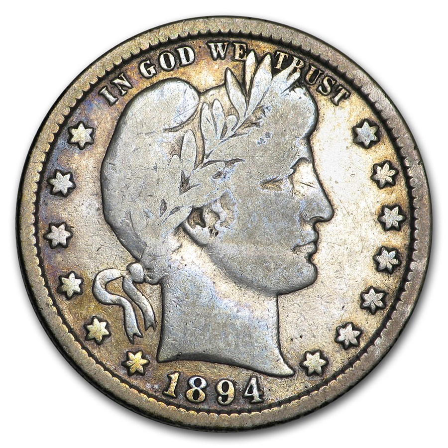 1894-S Barber Quarter VG