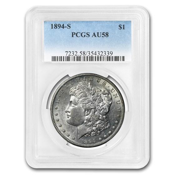 1894-S Morgan Dollar AU-58 PCGS