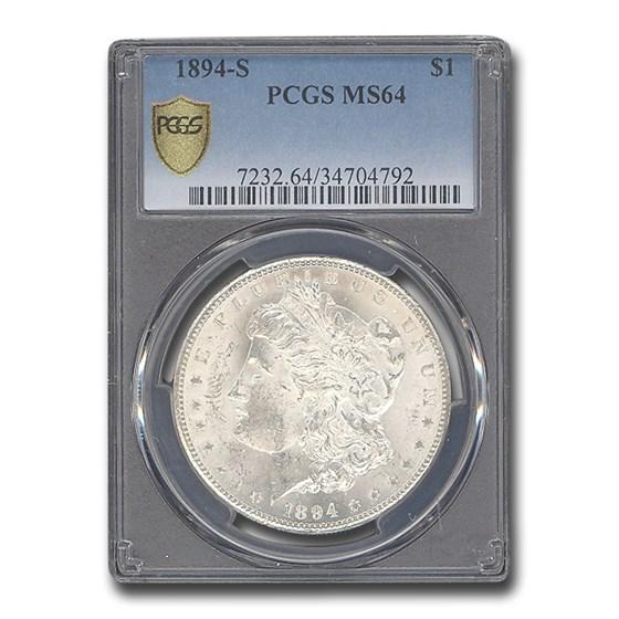 1894-S Morgan Dollar MS-64 PCGS
