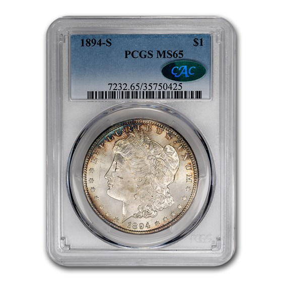 1894-S Morgan Dollar MS-65 PCGS CAC