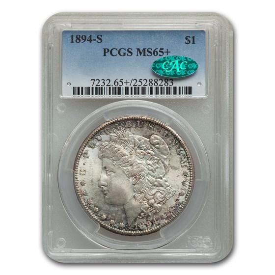 1894-S Morgan Dollar MS-65+ PCGS CAC