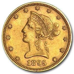 1895 $10 Liberty Gold Eagle AU