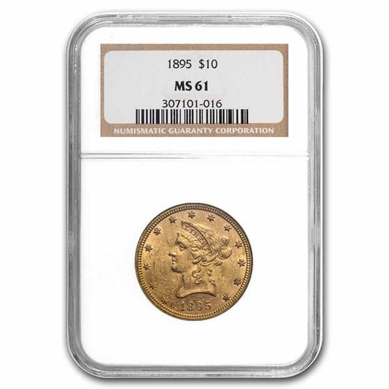 1895 $10 Liberty Gold Eagle MS-61 NGC