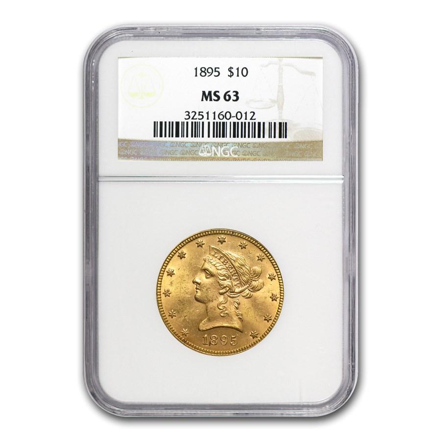 1895 $10 Liberty Gold Eagle MS-63 NGC