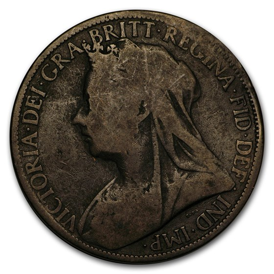 1895-1901 GB Victoria Veil Head Penny Avg Circ (Random date)